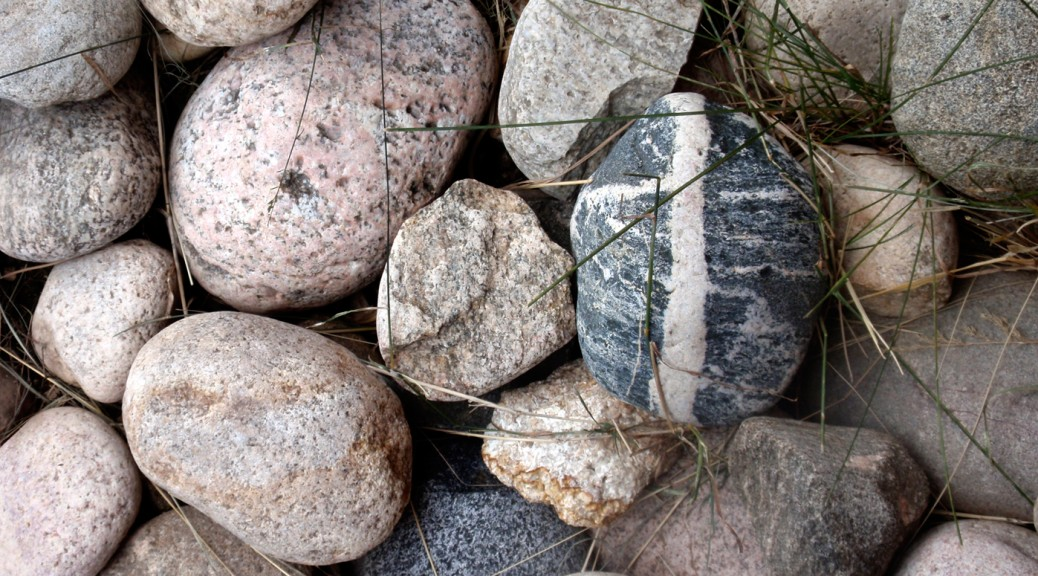 stones, rock with cross