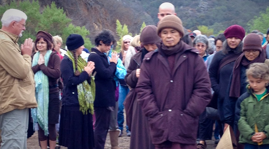 Thich Nhat Hanh walking