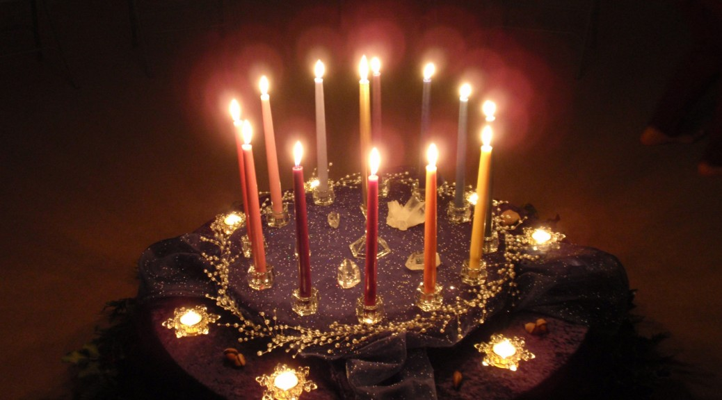 candles during Holy Nights